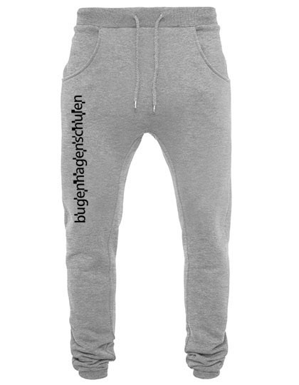 Deep Crotch Sweatpants unisex - (70/30) heathergrey/black
