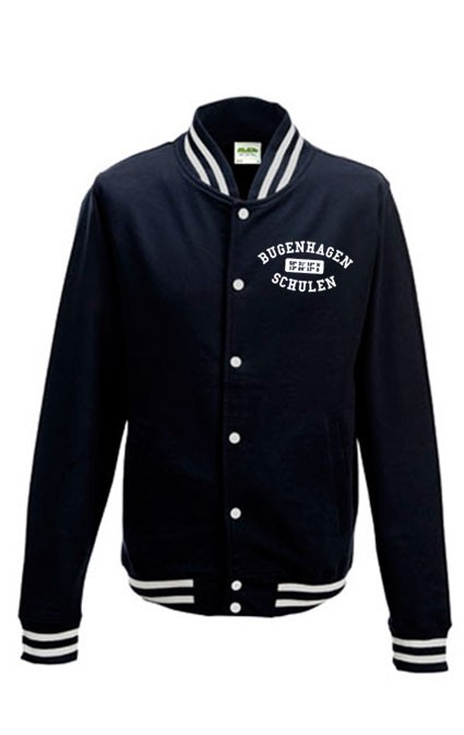 College-Sweatjacke navy