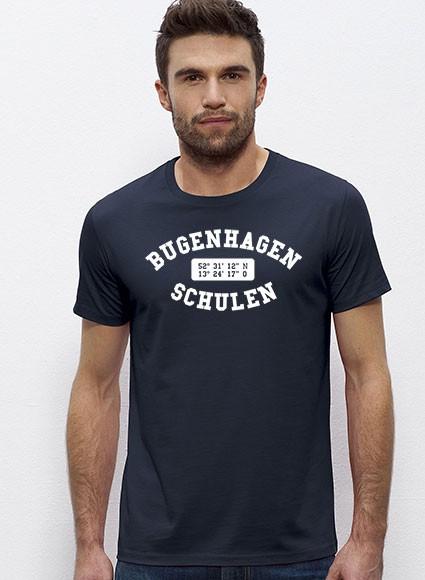 Rundhals T-Shirt Herren - 100% Biobaumwolle - navy