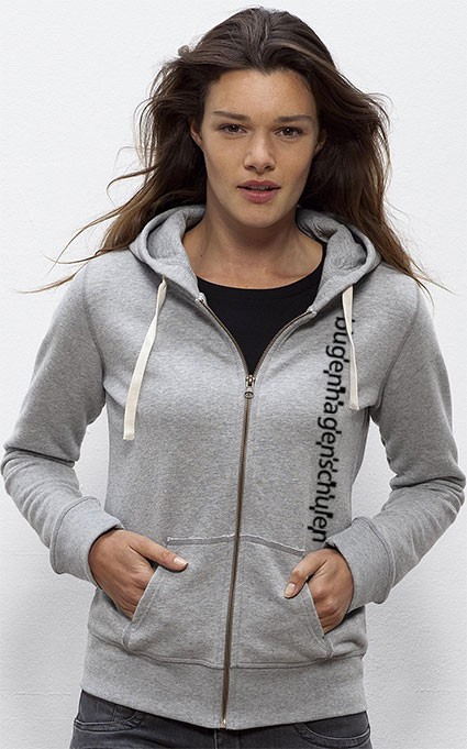 Kapuzen Jacke Single Jersey (85/15) heathergrey